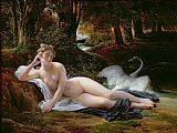 Francois Edouard Picot Leda and the Swan Print