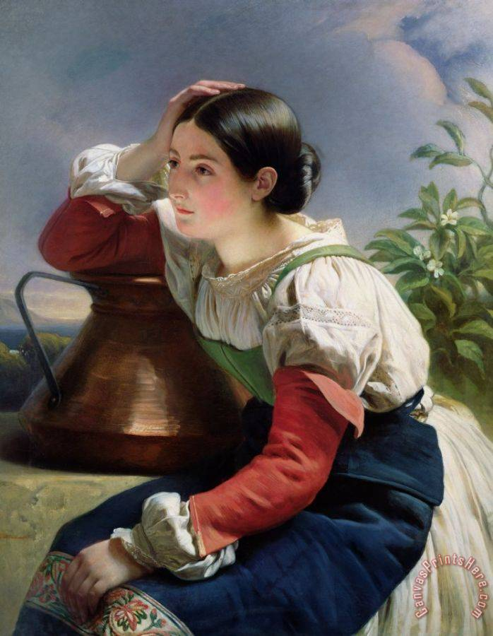 Franz Xaver Winterhalter Young Italian at the Well Art Print