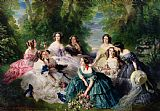 Franz Xaver Winterhalter Empress Eugenie Surrounded by her Ladies in Waiting Print
