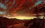 Frederic Edwin Church Twilight in the Wilderness Print