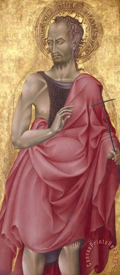 Giovanni di Paolo Saint John The Baptist Art Print