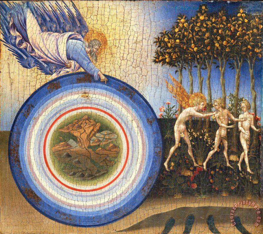 Giovanni di Paolo The Creation of The World And The Expulsion From Paradise Art Print