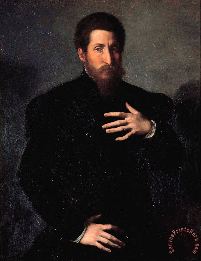 Girolamo da Carpi Portrait of a Virile Man Art Print