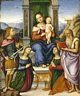 Girolamo Marchesi - The Virgin And Child Enthroned with Saints Michael, Catherine of Alexandria, Cecilia, And Jerome