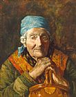Girolamo Nerli - An Old Woman (study)