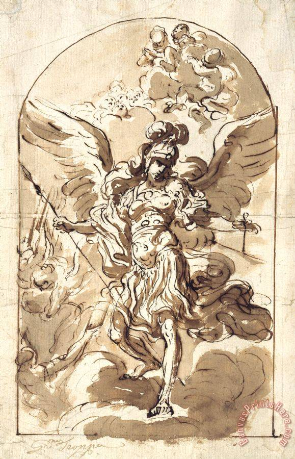 Girolamo Troppa The Archangel Michael Art Print For Sale