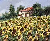 Collection 7 I Girasoli Nel Campo Print
