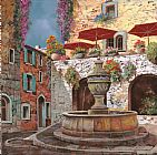 Collection 7 la fontana a St Paul de Vence Print