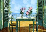 Collection 7 Le Rose E Il Balcone Print