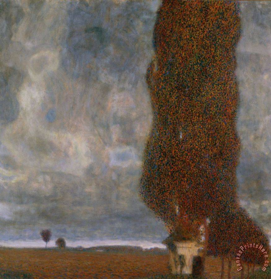 Gustav klimt the large poplar ii gathering storm art print for Gustav klimt original paintings for sale
