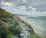 Gustave Caillebotte Cliffs by the sea at Trouville Print