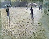 Study for a Paris Street Rainy Day by Gustave Caillebotte