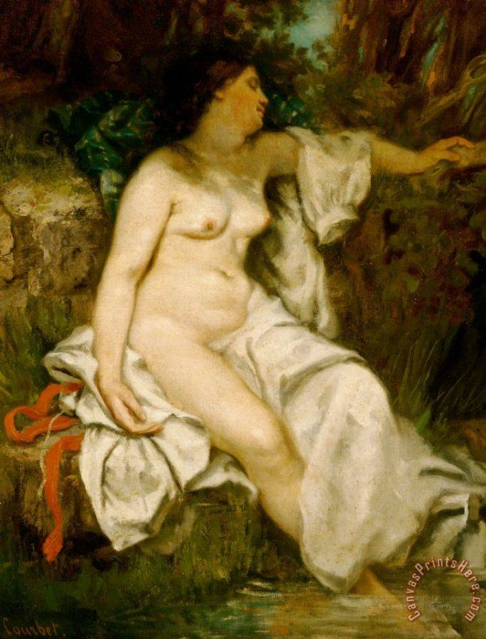 Gustave Courbet Bather Sleeping By A Brook Art Print