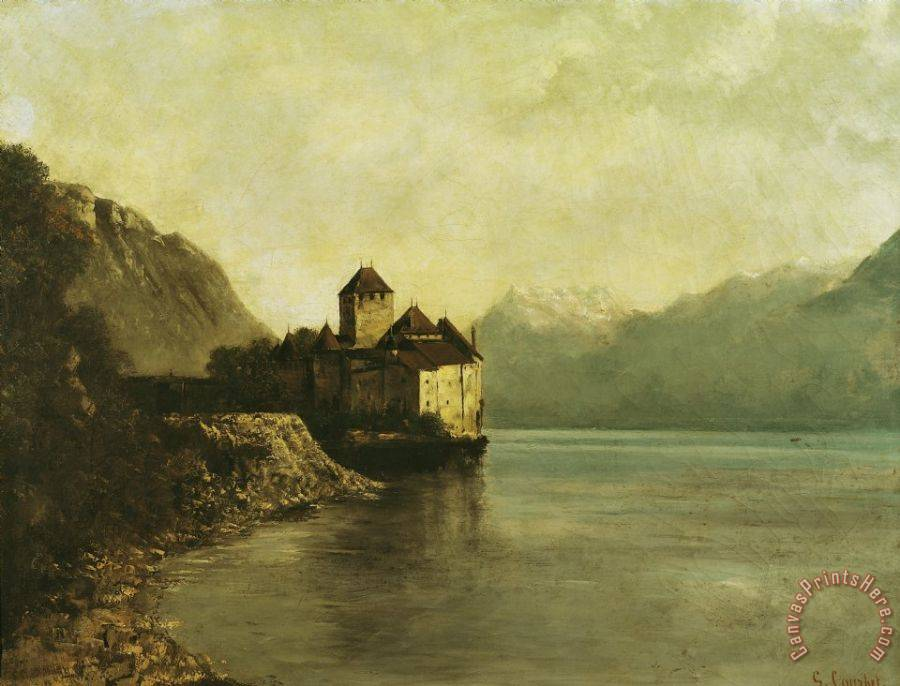 Gustave Courbet Chateau de Chillon Art Print