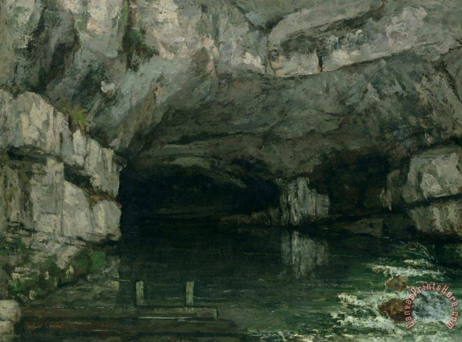 Gustave Courbet The Grotto of the Loue Art Print