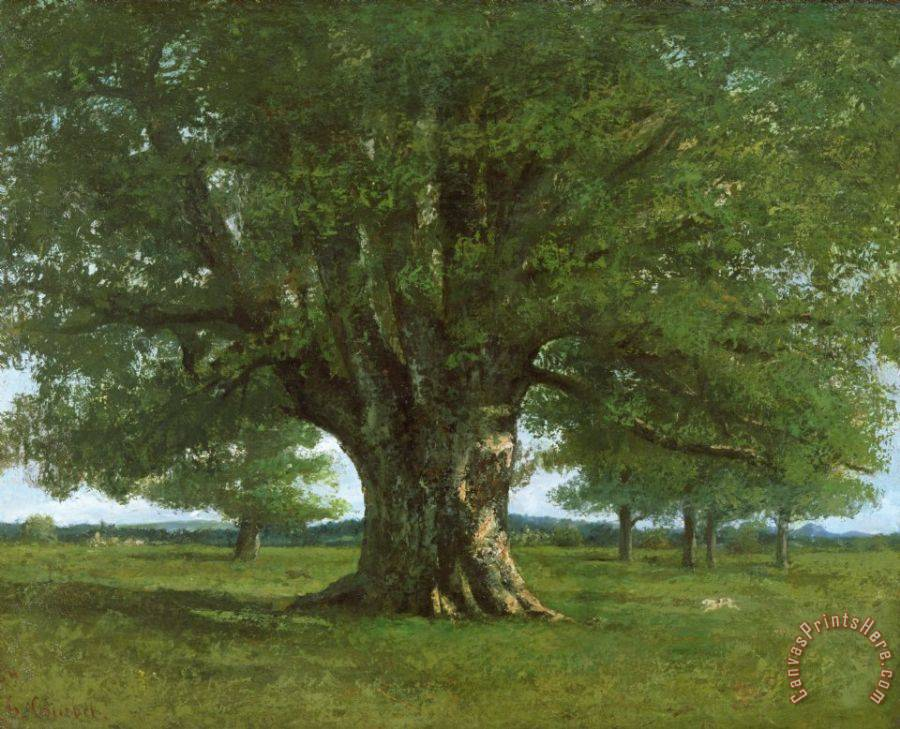 Gustave Courbet The Oak of Flagey Art Print