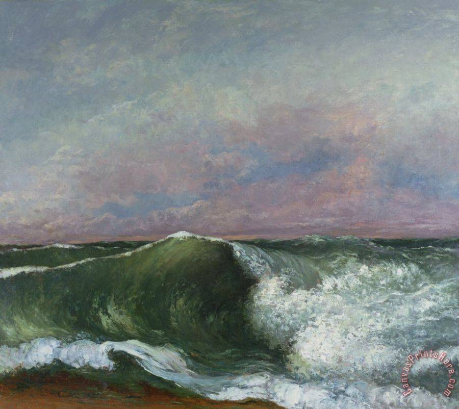 Gustave Courbet The Wave Art Print