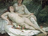 Gustave Courbet Bathers or Two Nude Women Print