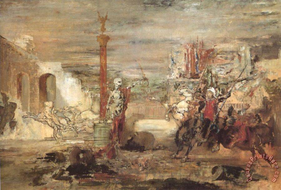 Gustave Moreau Death Offers Crowns to The Winner of The Tournament Art Print