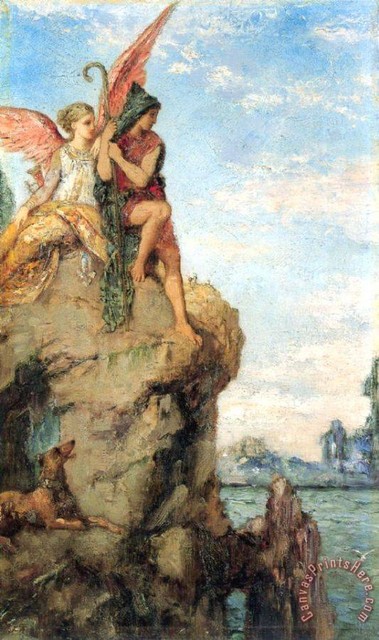 Gustave Moreau Hesiod And The Muse Art Print