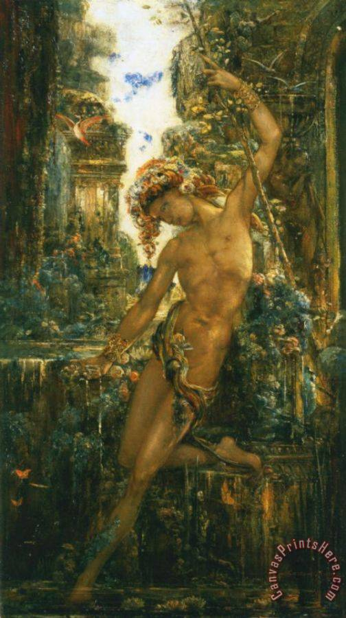 Gustave Moreau Narcissus Art Print