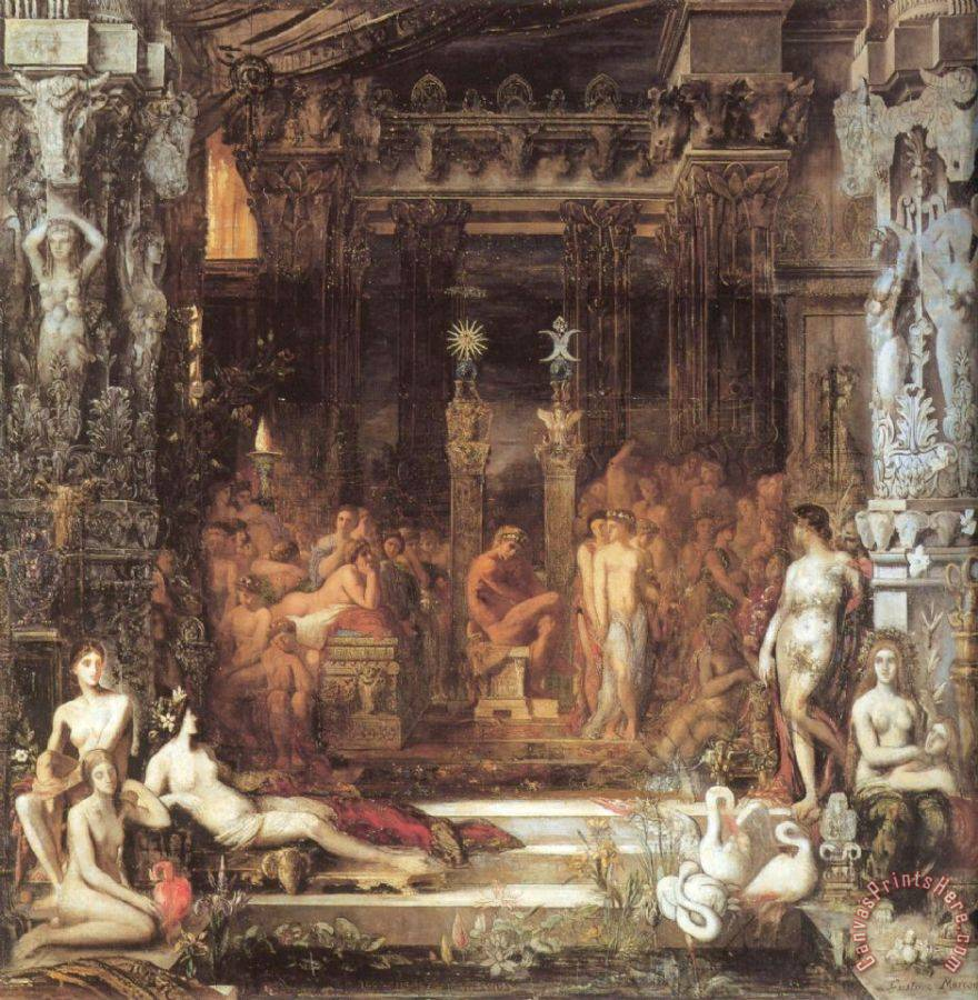 Gustave Moreau The Daughters of Thespius Art Print