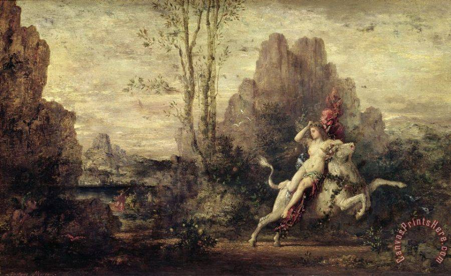 Gustave Moreau The Rape Of Europa Art Print