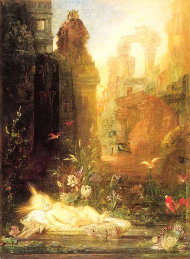 Gustave Moreau Young Moses Art Print