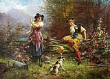 Hans Zatzka Jealous Girlfriend Print