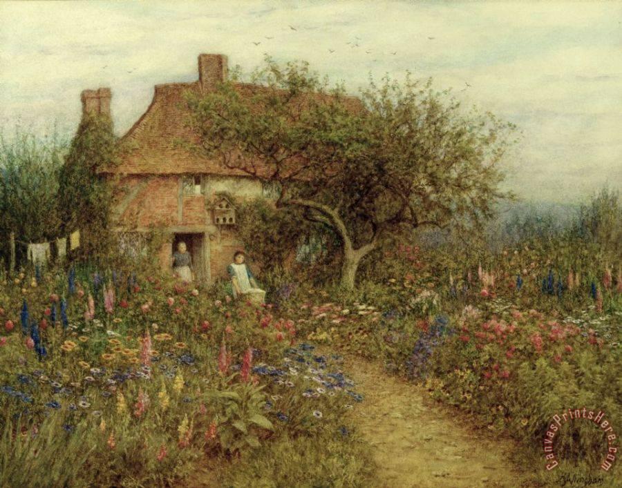 Helen Allingham A Cottage Near Brook Witley Surrey Art