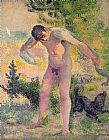 Henri-Edmond Cross Bather drying himself at St Tropez Print