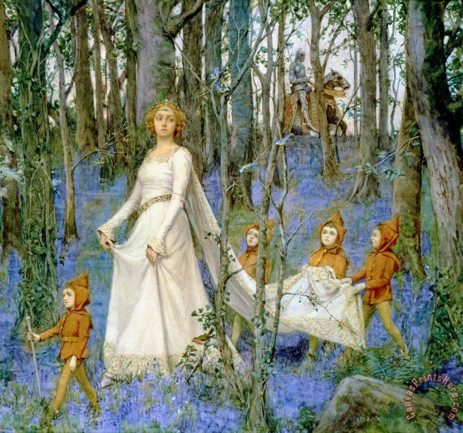 Henry Meynell Rheam The Fairy Wood Art Print
