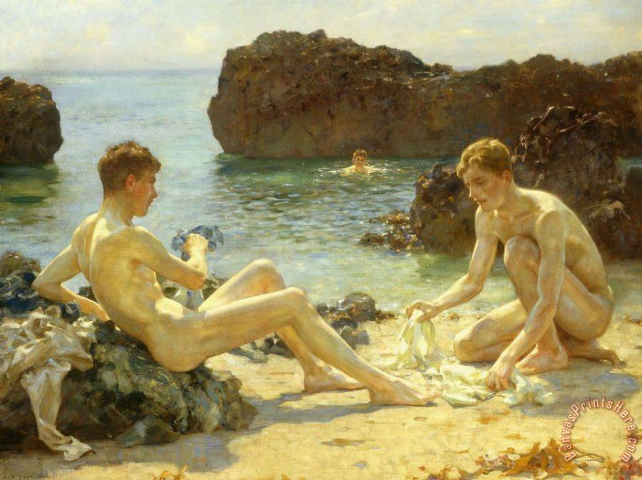 Henry Scott Tuke The Sun Bathers Art Print