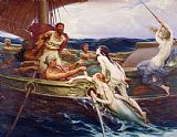 Herbert James Draper Ulysses and the Sirens Print