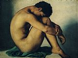 Hippolyte Flandrin Study of a Nude Young Man Print