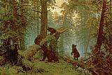 Morning in a Pine Forest by Ivan Ivanovich Shishkin