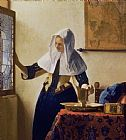 Jan Vermeer Young Woman with a Water Jug Print