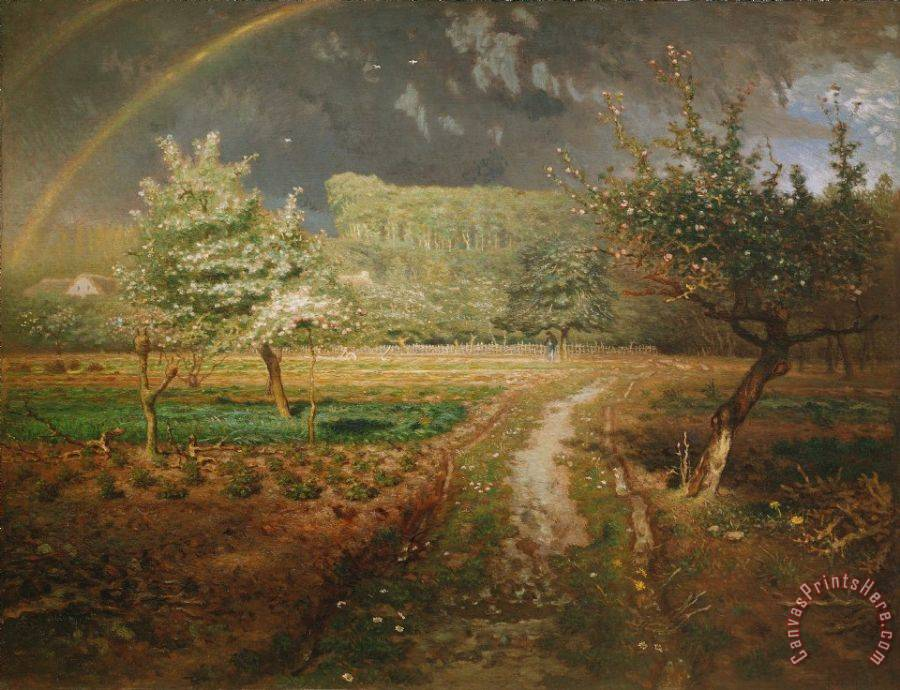 Jean-Francois Millet Spring at Barbizon Art Print