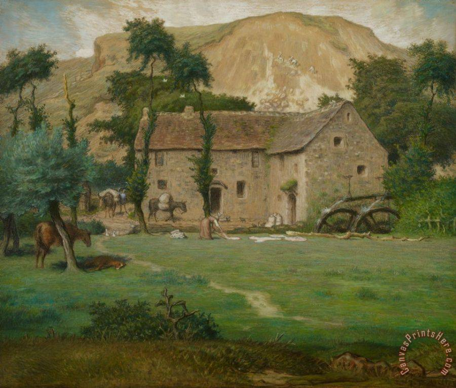 Jean-Francois Millet The Farm House Art Print