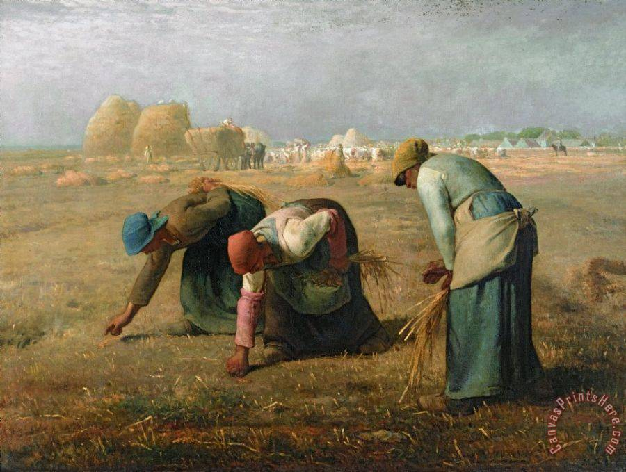 Jean-Francois Millet The Gleaners Art Print