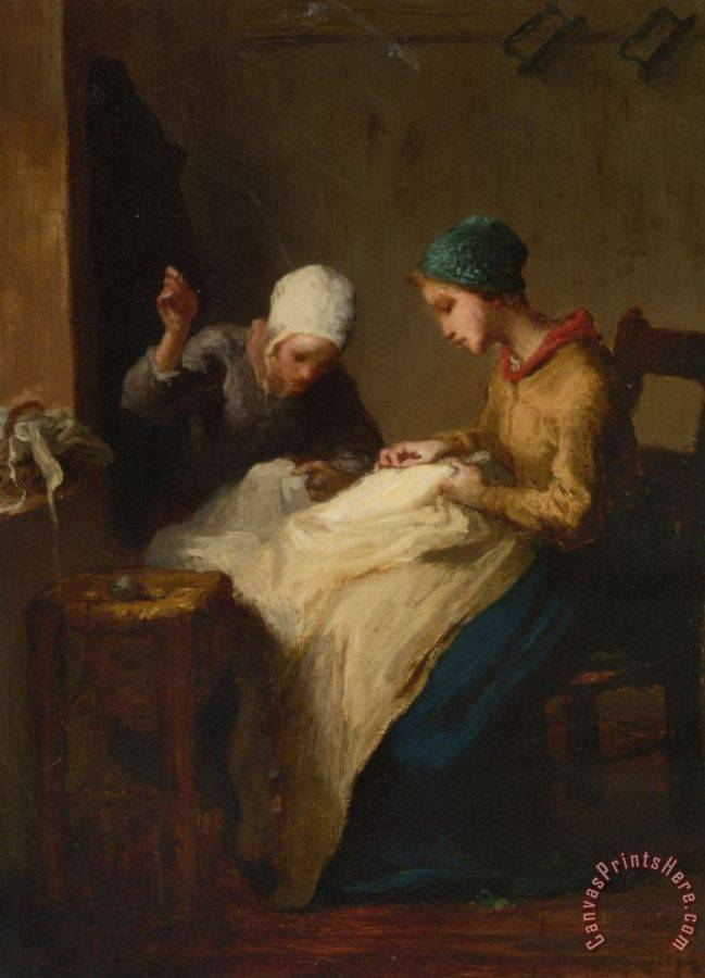 Jean-Francois Millet The Young Seamstress Art Print