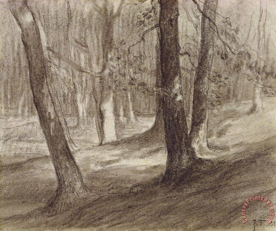 Jean-Francois Millet Trees In A Forest Art Print