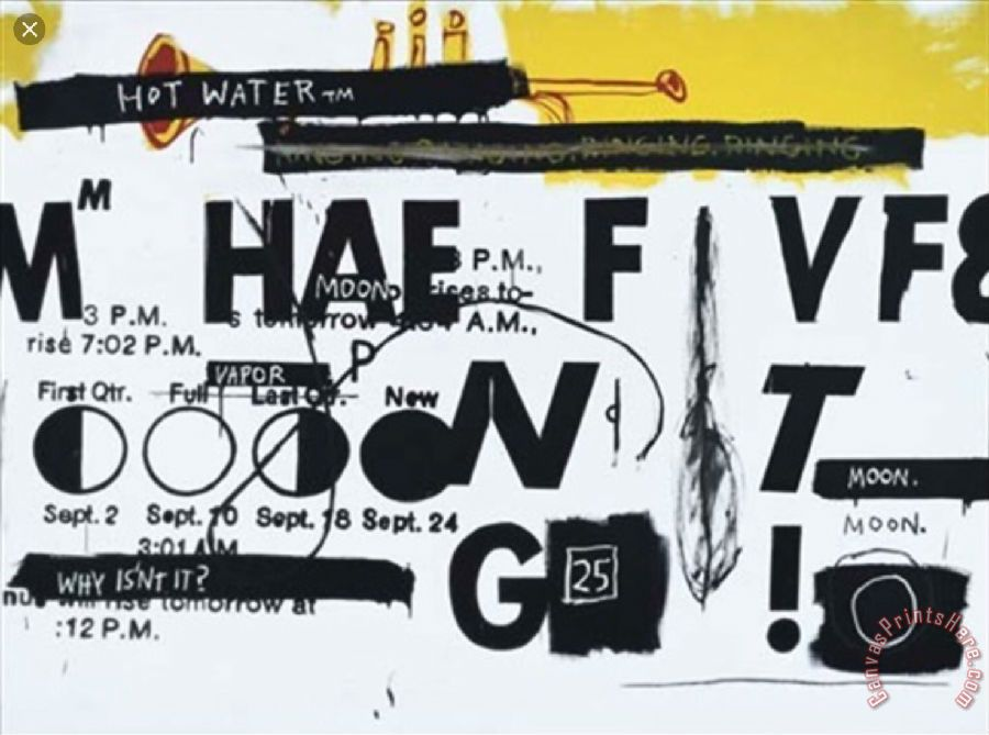 Jean-michel Basquiat Hot Water Art Painting