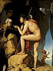 Jean Auguste Dominique Ingres Oedipus and the Sphinx Print