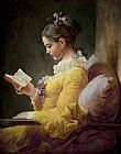JeanHonore Fragonard Young Girl Reading Print