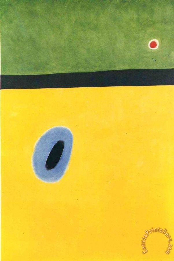 Joan Miro The Lark's Wing Encircled with Golden Blue Rejoins The Heart of The Poppy Sleeping on a Diamond Art Print