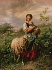 Johann Baptist Hofner The Shepherdess Print