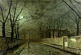 Silver Moonlight by John Atkinson Grimshaw