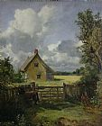 John Constable Cottage in a Cornfield Print