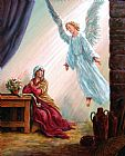 John Lautermilch Mary and Angel Print